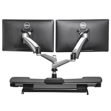 monitor stand for desk dual monitor arm varidesk 174