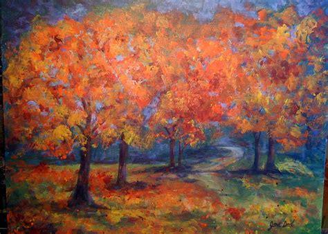 acrylic painting of trees jpd artworks fall trees acrylic