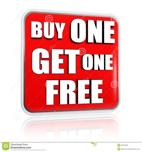 one free buy one get one free banner stock photography image