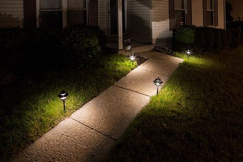 landscape path lighting led landscape path lights dual tier 4 watt aluminum