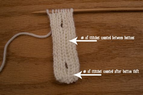 buttonhole in knitting how to knit a vertical button band