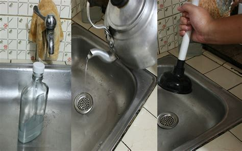 kitchen sink drain clogged how to clear how to clear a clogged drain with vinegar 10 steps