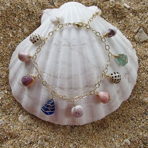 how to make jewelry from shells hawaiian shell bracelet shell jewelry gold charm