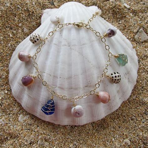 how to make jewelry with shells hawaiian shell bracelet shell jewelry gold charm