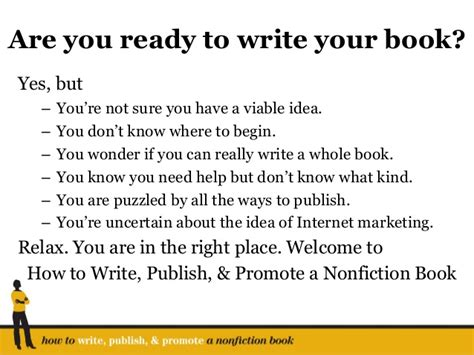 how to make a book ready to write your nonfiction book you are in the right