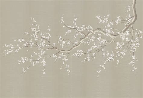 Dining Room Tables Retro chinoiserie wall mural cherry blossoms asian wallpaper