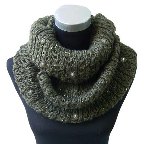 loop knit scarf winter loop scarf loop shawl knit scarf scarf sequin