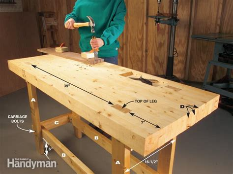 made by woodworking build a work bench on a budget the family handyman
