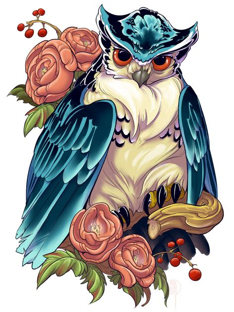 irezumi design owl 002 001 prints by fydbac on deviantart