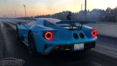 2017 Ford Gt 1 4 Mile by 2017 Ford Gt 1 4 Mile Testing With Heffner Performance