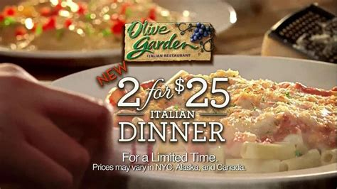 olive garden tv commercial for 2 for 25 italian dinner ispot tv