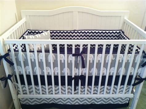white and blue crib bedding sets crib bedding navy and gray elephant deposit by