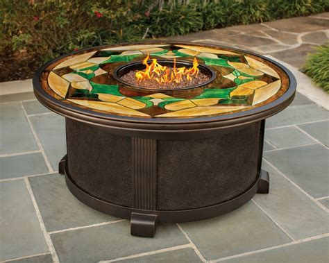glass for pit nuriel outdoor gas pit with stained glass top