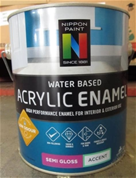 acrylic paint water based 4x2l nippon paint water based acrylic enamel semi gloss