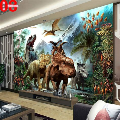 dinosaurs murals walls mural wallpaper tv background eco friendly the wall paper