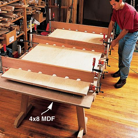 woodworking cauls diy farm table plans how to build your own farm table