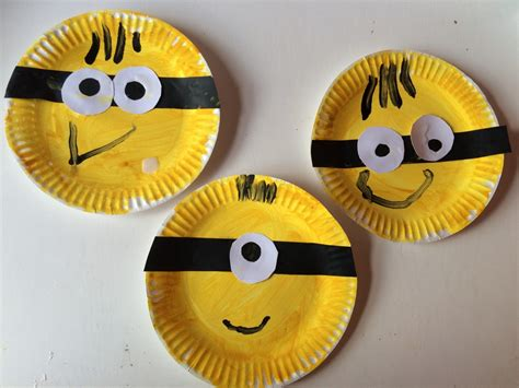 paper plates crafts minions craft clare s tots