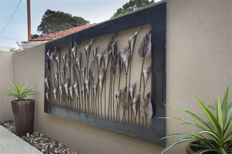 metal decorations outdoor impressive outdoor wall decorations you need to see