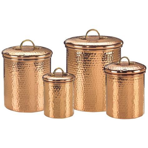 copper canister set kitchen copper canister set decor hammered 843