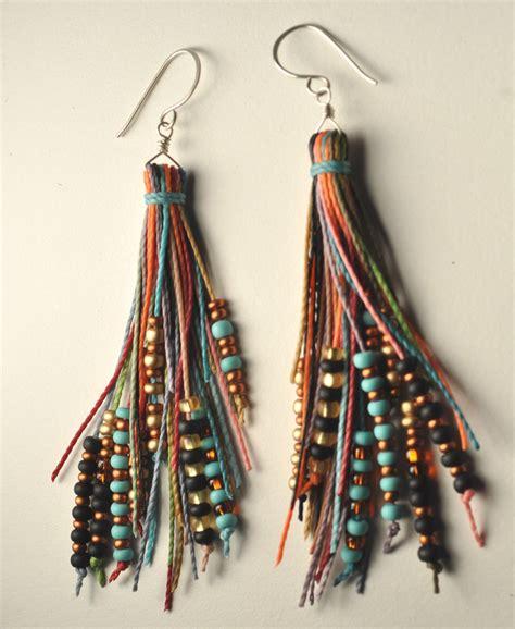 beaded earrings diy beaded tassel earrings
