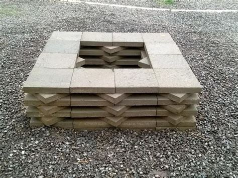 pit on patio pavers 12 best paver pits images on pits