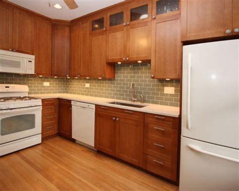 Kitchen Ideas With White Appliances by Cherry Cabinets White Appliances Home Design Ideas