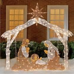 nativity decorations outdoor lighted nativity freshfinds
