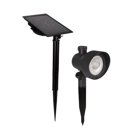 shop portfolio black solar led landscape flood light at lowes