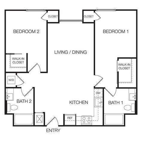 2 bedroom apartments allfloor plans2 bedroom2 bath b3 2b 2b 1075sf view floor