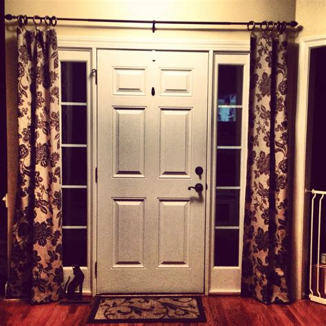 small window curtains for front door best 25 sidelight curtains ideas on door