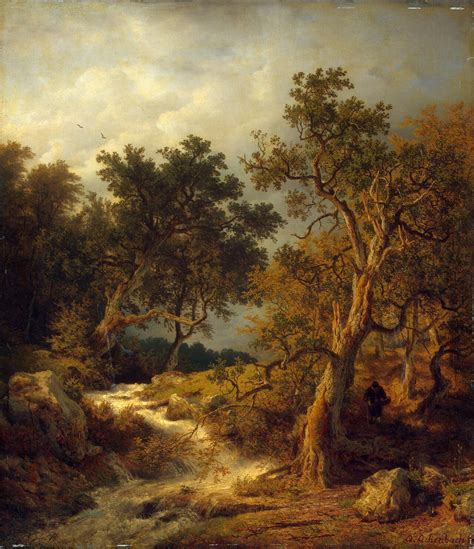 painting landscapes landscape with a painting achenbach andreas