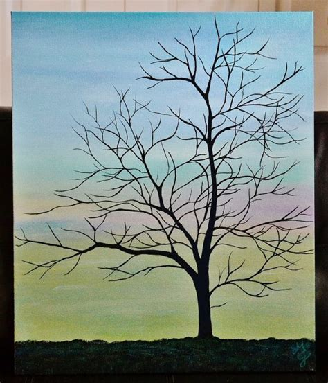 easy acrylic painting ideas trees 17 best ideas about tree canvas paintings on