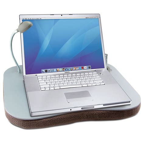laptop cusion laptop tray large grey padded cushion rest