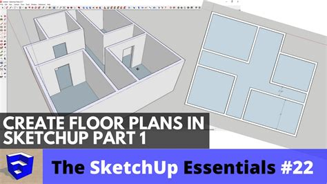 how to create floor plan in sketchup creating 3d floor plans in sketchup part 1 the sketchup