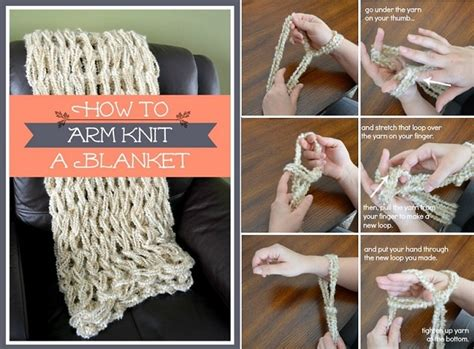 how to arm knit blanket how to arm knit a blanket in less than an hour diy