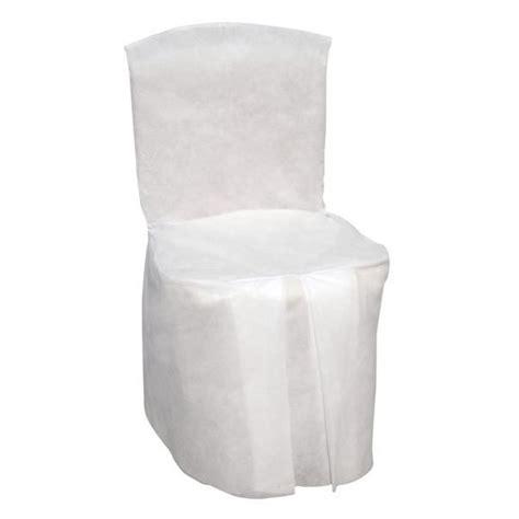 housse de chaise mariage blanche jetable integrale badaboum