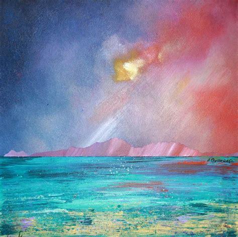 spray painter hervey bay the isle of arran scotland landscape paintings prints