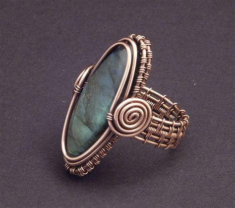 wire wrapping copper labradorite ring by wiredelements on deviantart