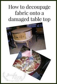 decoupage table top with fabric decoupage table on decoupage furniture
