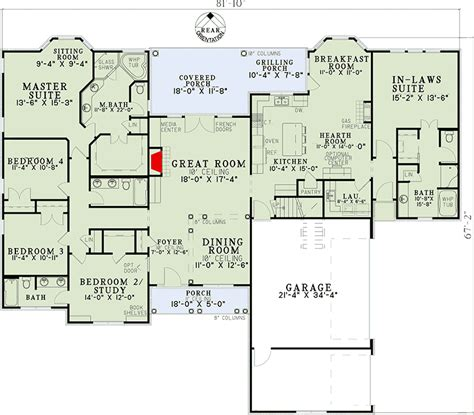 house plans with in suite open living with in suite 59679nd 1st floor master suite bonus room butler walk in