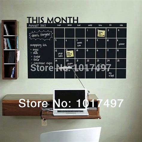 diy chalkboard sticker diy 56x38cm monthly chalkboard wall sticker blackboard