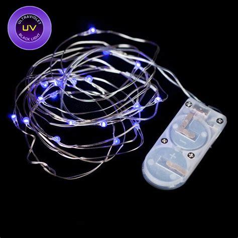 black light string 20 micro led uv black light submersible string light