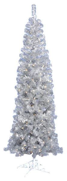 pencil artificial tree with clear lights pre lit artificial tinsel pencil tree clear