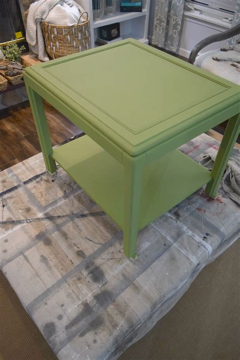 chalk paint lumpy second coat fab furniture flippin contest side table turned into