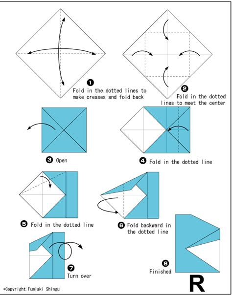how to make origami letters alphabet r easy origami for