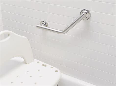 designer grab bars for bathrooms moen 8994 24 inch by 36 inch l shaped bathroom grab bar peened home improvement