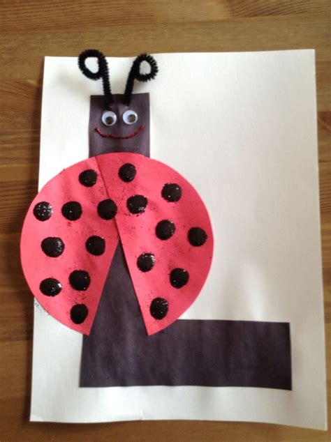 l craft for l is for ladybug craft craft letter craft