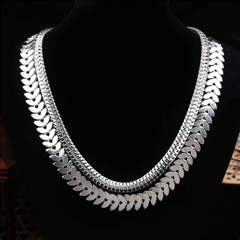 silver for jewelry wedding snake chain necklace for gold