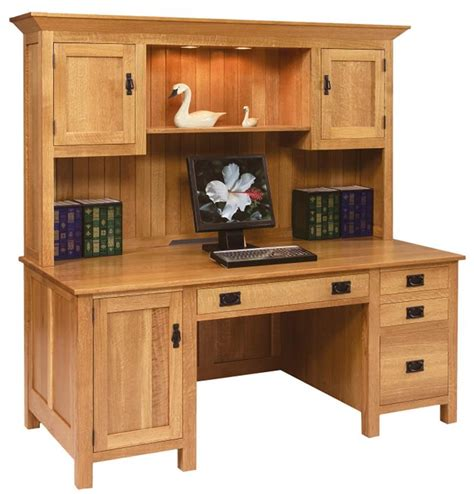 computer desks with hutch amish large mission computer desk with hutch top