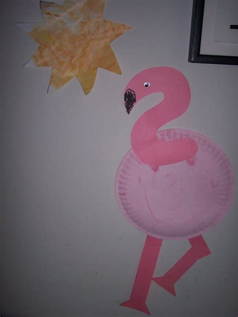 flamingo craft projects ellie paper plate flamingo project my